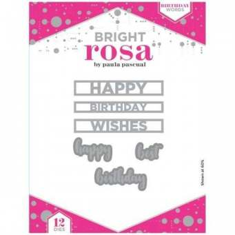 Bright Rosa Birthday Words Die Set