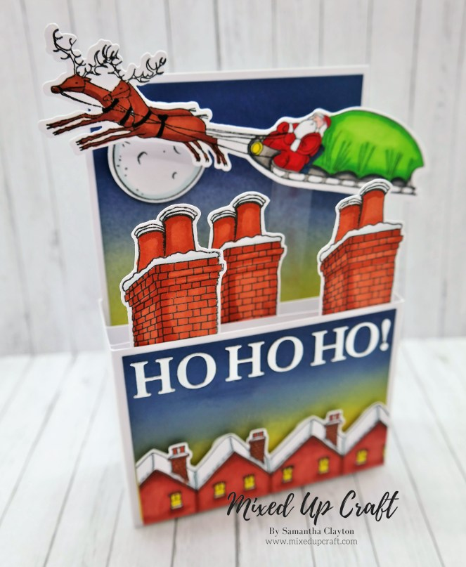 Father Christmas Pop Up Box Card
