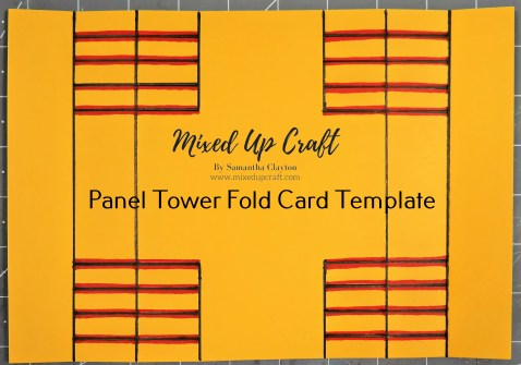 Panel Tower Fold Card Template