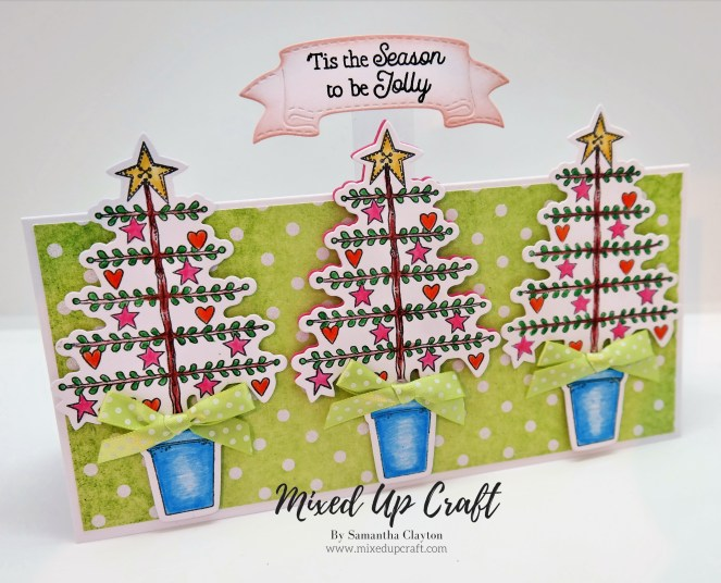 Long Twiggy Christmas Tree card