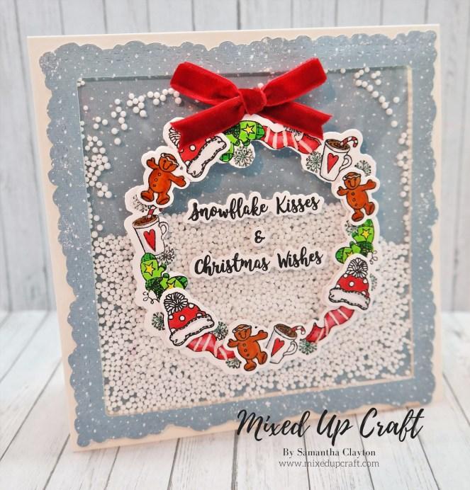 Christmas Wreath Shaker Card