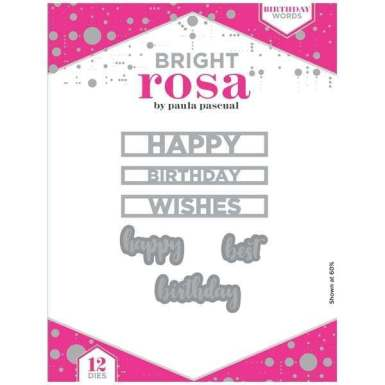 Bright Rosa Birthday Words