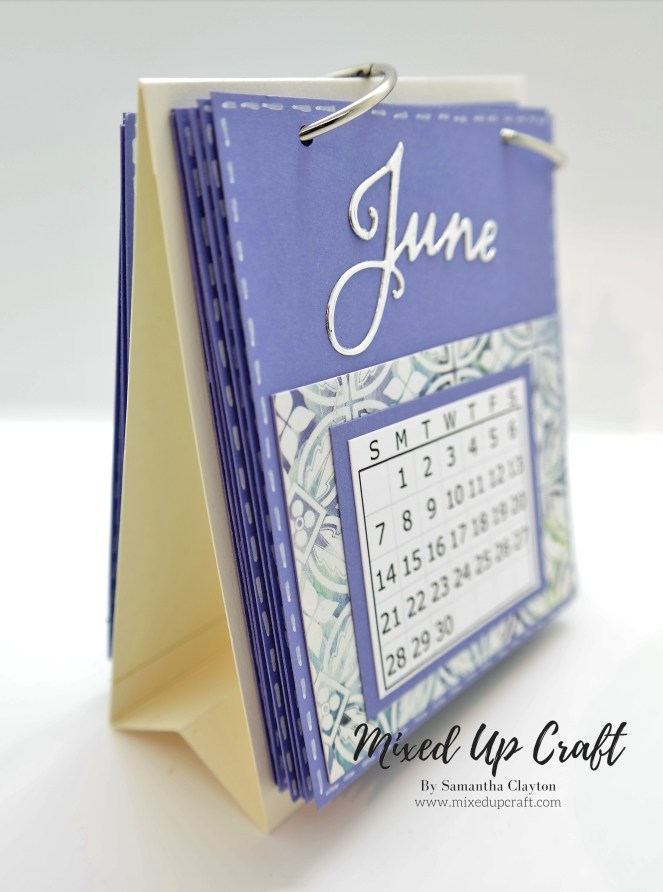 Easy Mini Desk Calendar