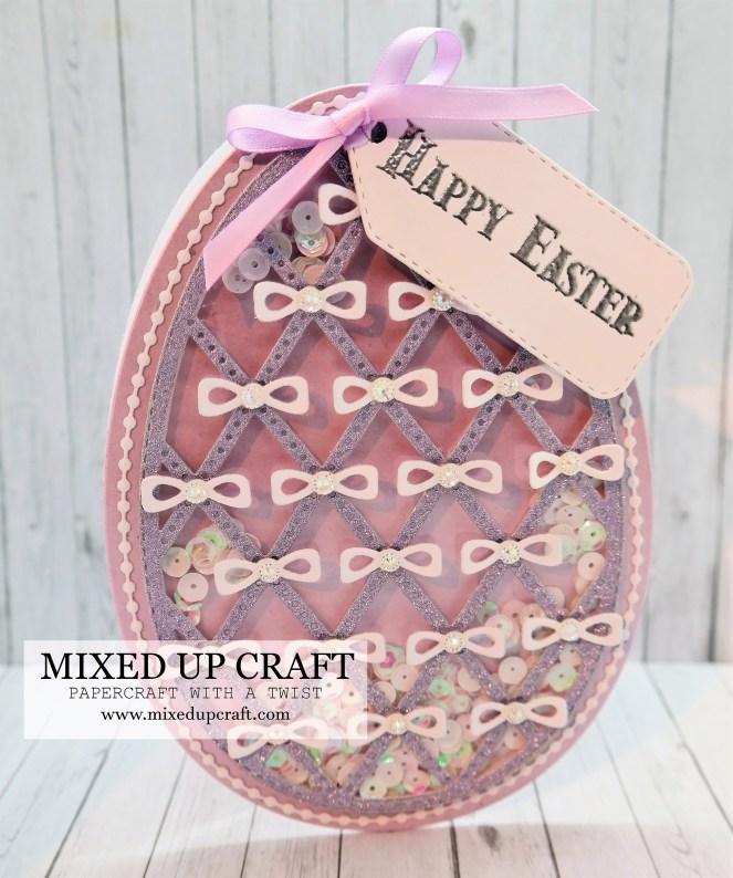 Pretty Easter Egg Shaker Card