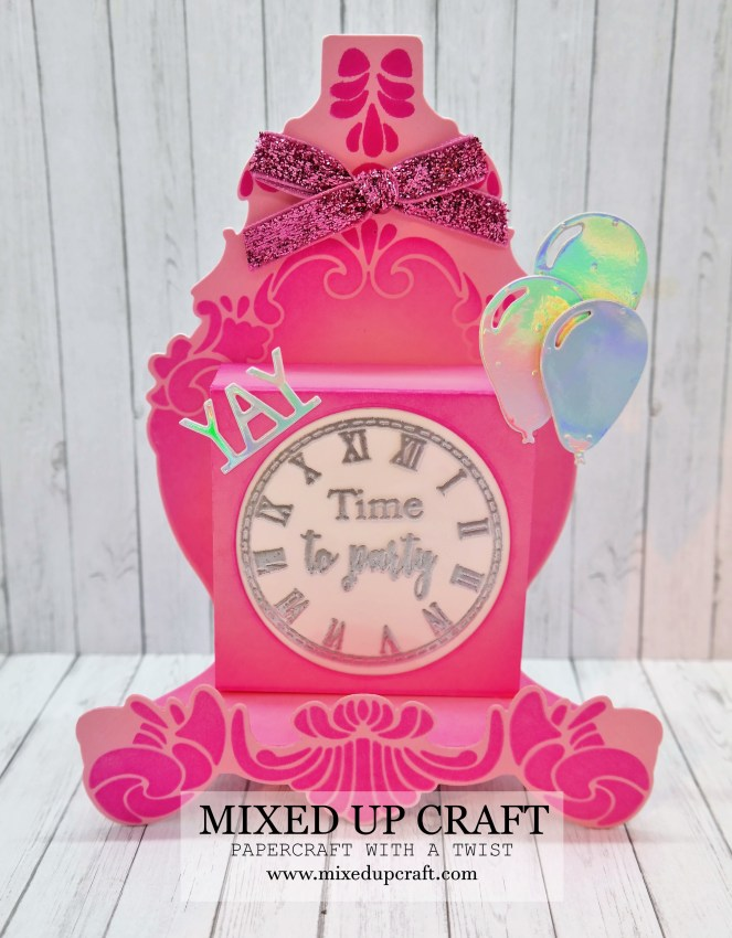 Beautiful Stand & Pop Clock Card