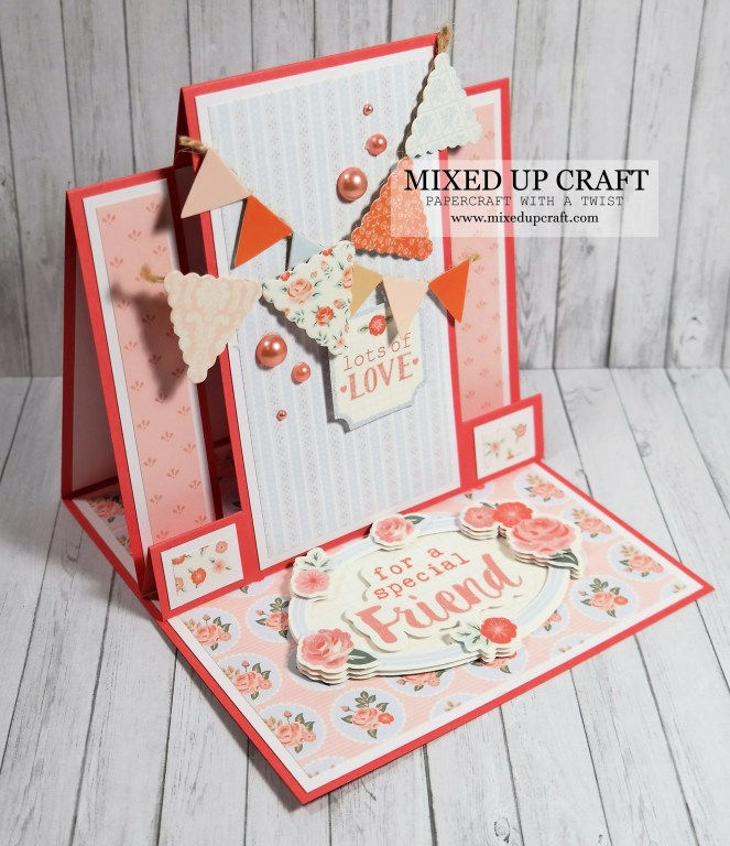 Pretty Centre Step Easel Card