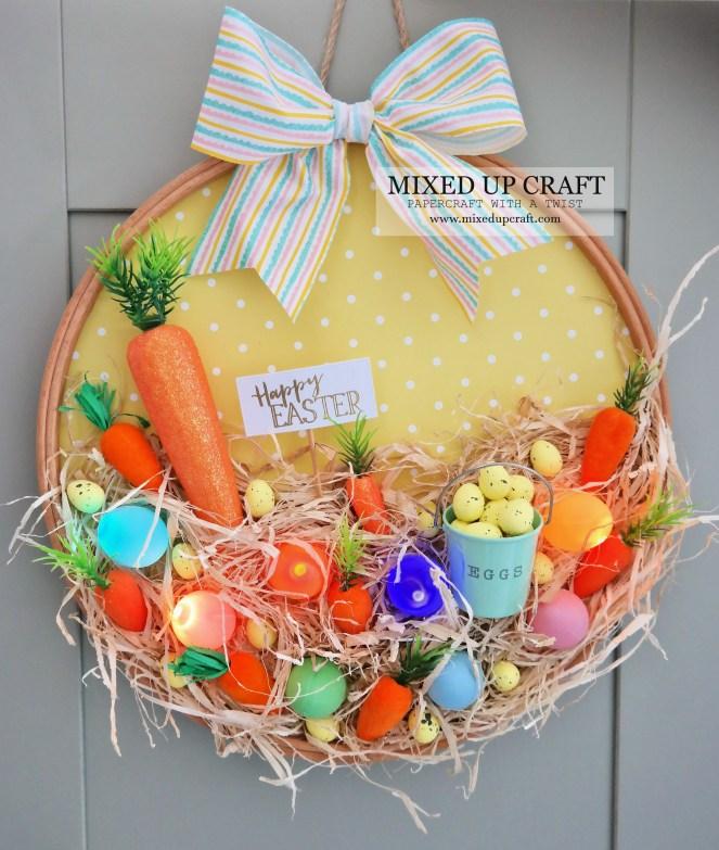 Cute Embroidery Hoop Wreath