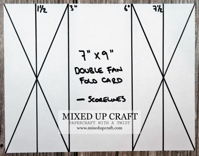 Double Fan Fold Card Template