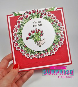 Pretty Floral Slider Card