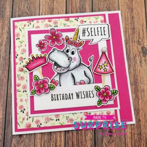 Fabulous Joy Fold Card featuring Heidi the Hippo!