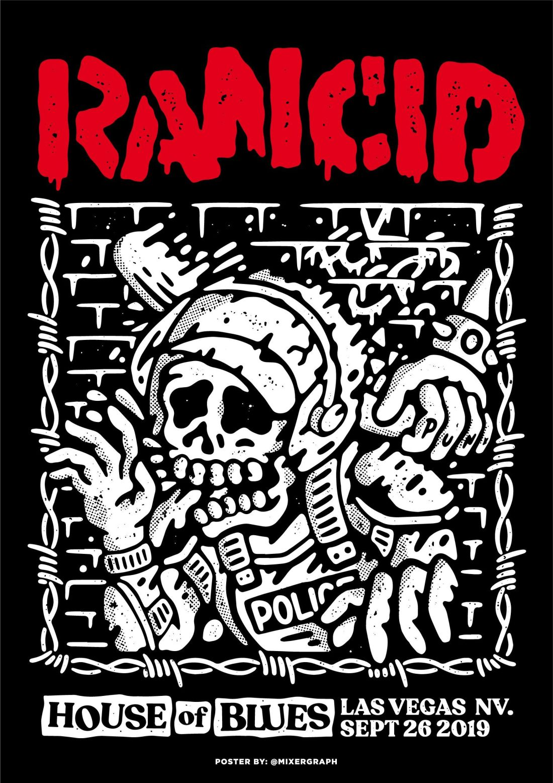 Poster for the punk rock band Rancid