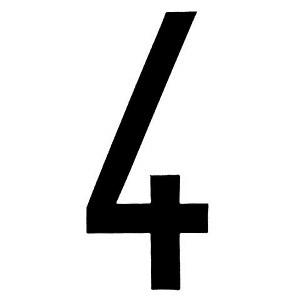 "Lampa ΑΥΤΟΚΟΛ. ΑΡΙΘΜΟΣ ΠΙΝΑΚΙΔΩΝ ""4"""