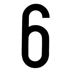 "Lampa ΑΥΤΟΚΟΛ. ΑΡΙΘΜΟΣ ΠΙΝΑΚΙΔΩΝ ""6"""