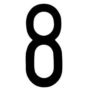 "Lampa ΑΥΤΟΚΟΛ. ΑΡΙΘΜΟΣ ΠΙΝΑΚΙΔΩΝ ""8"""