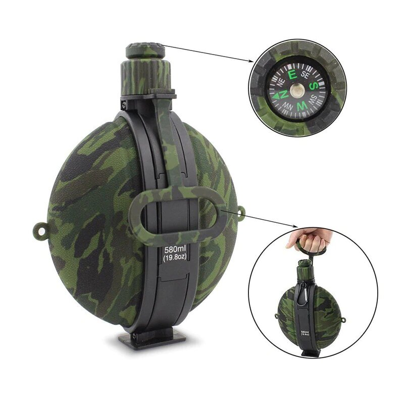 Folding Outdoor Military Water Bottle