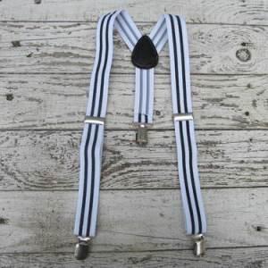 Bretels White & Black Stripes