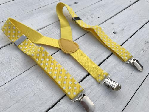 Bretels Yellow Dots