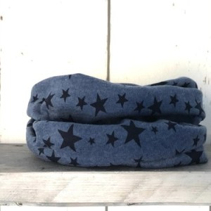 Donkerblauw colsjaaltje met sterren
