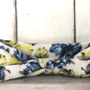 Haarbandje Blue/Yellow flowers