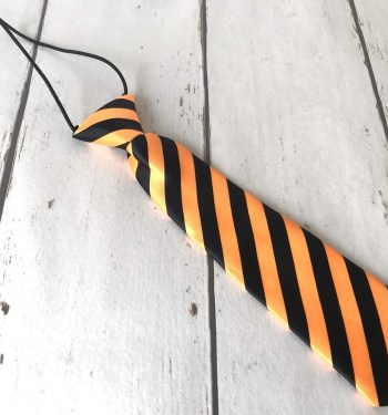 Zwart/Oranje stropdasje