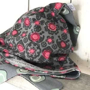 grijze bandana met bloemetjes voor meisjes