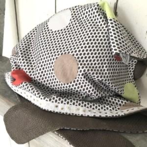 Licbte bandana met stippen voor meisjes
