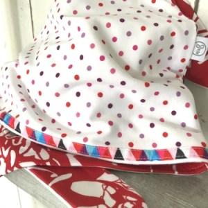 Witte bandana met stippen