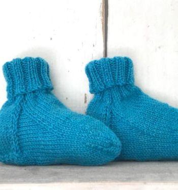 Turquoise babyslofjes