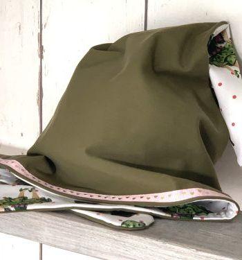 Legergroene bandana voor meisjes
