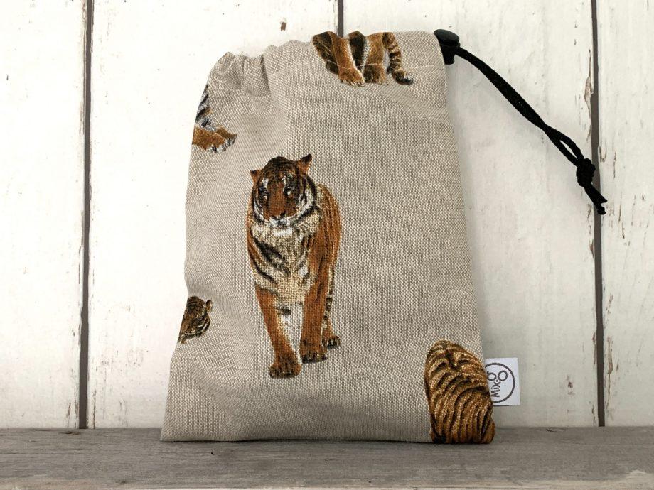 Knikkerzak met tijgers