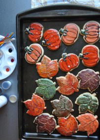 Thanksgiving painted cookies. Handpainted.