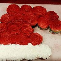 cupcake cake santa hat