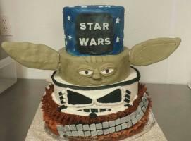 Star Wars 4 tier cake