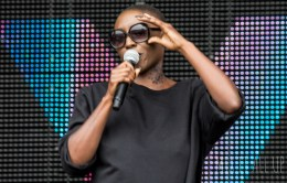 Laura Mvula performing live at Victorious Festival 2015.