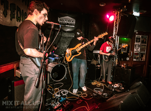 Web supporting Tundra Love live at the Edge of the Wedge, Portsmouth - 02/02/2020