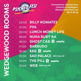 Wedgewood Rooms Psyched Fest Portsmouth Stage Times