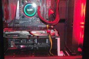 ordenador con la memoria intalada