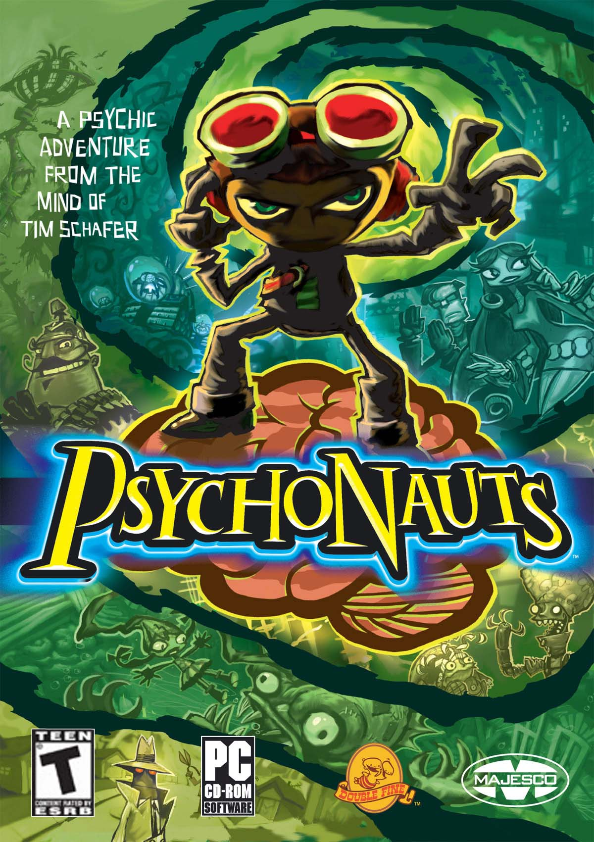 Fusion Fall Wallpaper Hd Psychonauts Cover Art The International House Of Mojo