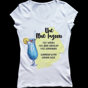 Blue Lagoon Cocktail Recipe T-shirt
