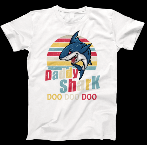 Daddy Shark Fathers Day T-shirt