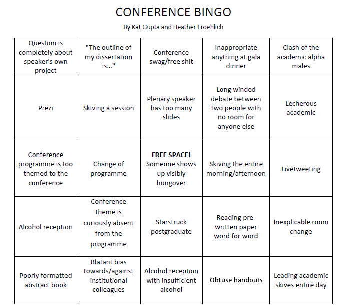 Conference Bingo Mixosaurus