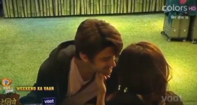 Ieshaan Sehgal and Miesha Iyer kiss