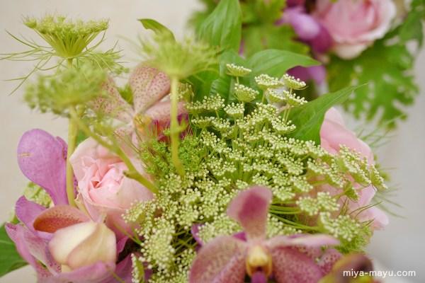 サロンのフラワーアレンジ 2015.06.19 東京都世田谷区・KOLME