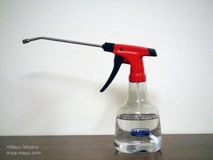 家庭にある酢と水で酢水を作ってスプレー