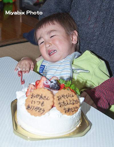 誕生日,号泣