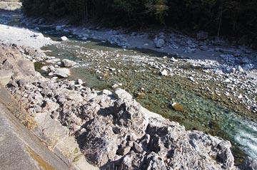 大熊谷出合上流付近の写真
