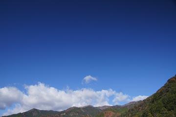 1日の空の写真