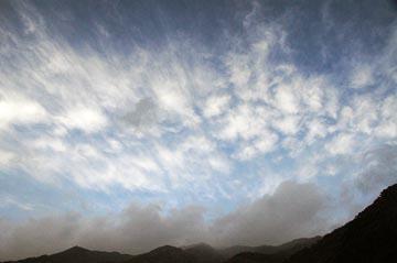 9日の空の様子