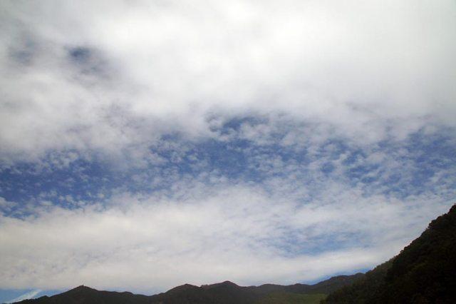 17日の空の様子