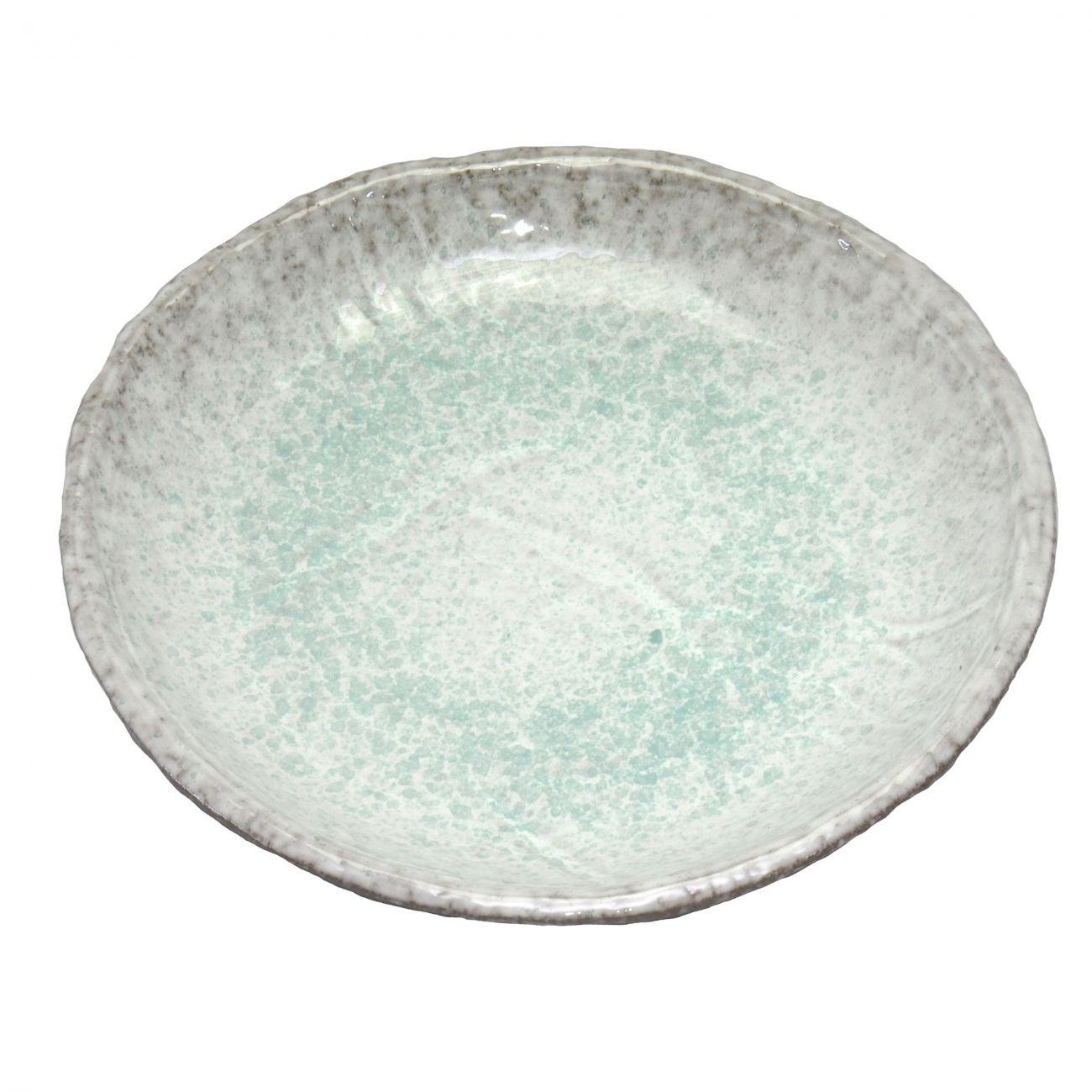 Aoyu Green Round Plate